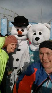 Winter runners run like the wind!