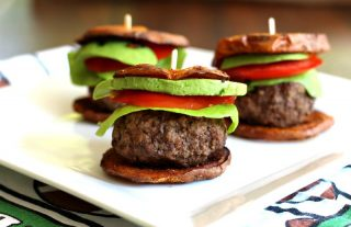 Paleo burgers with sweet potato sliders