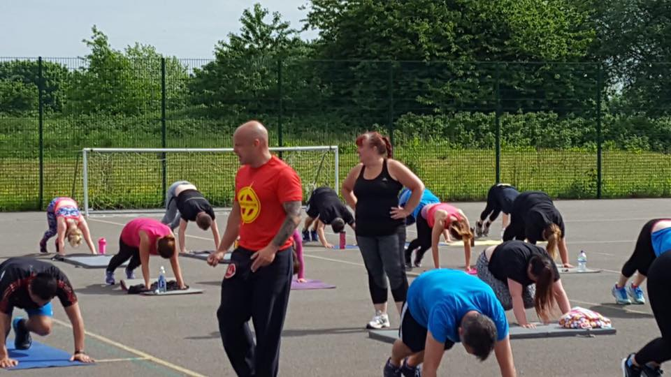 Fitness boot camp session at Kearsley Academy, Manchester